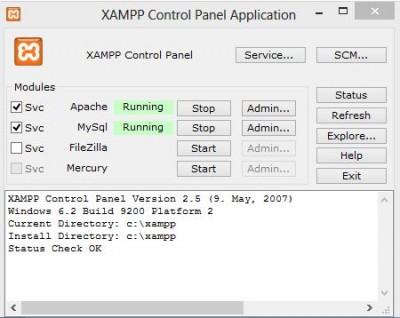 xamp panel