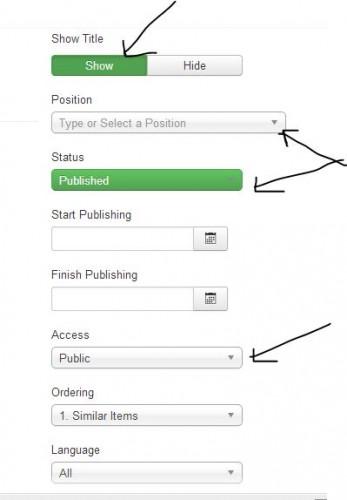 joomla menu create