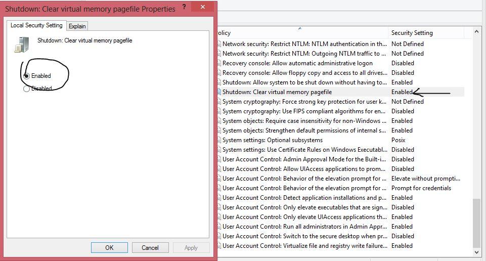 page file delete