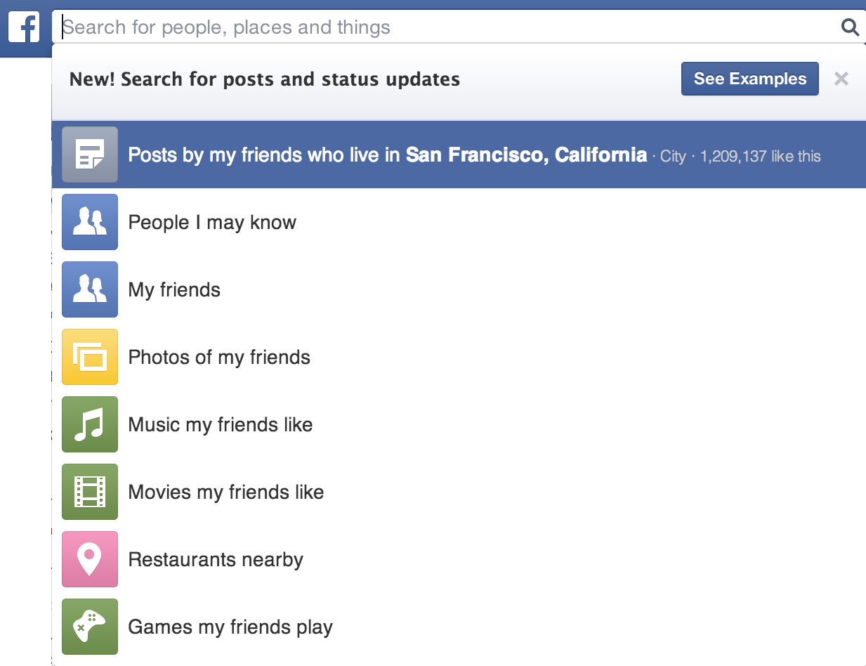 facebook search - Anytechtune