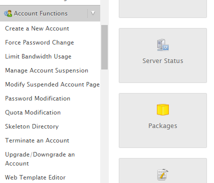 create a new cpanel account-anytechtune