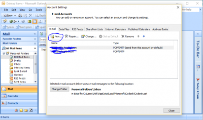 Outlook Email configure