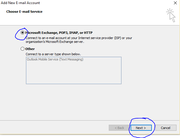 outlook Email Configure2
